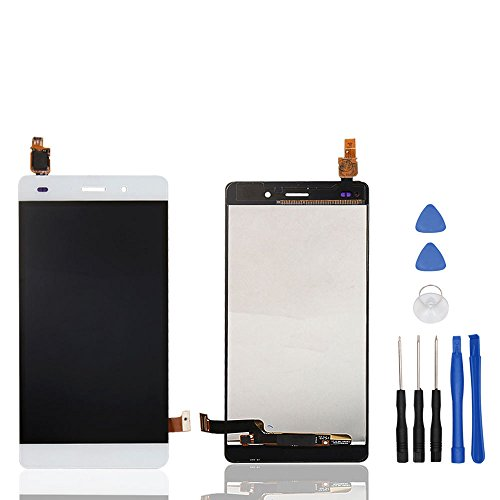 HYYT Reparatur und Ersatz LCD Display + Touchscreen Digitizer mit Frei Werkzeuge für Huawei Ascend P8 Lite/ALE-L21 (Weiß)