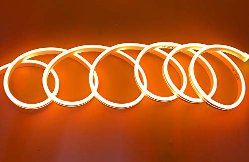 Bande LED néon flexible étanche IP65 5 mètres 120 LED/m 12 V orange