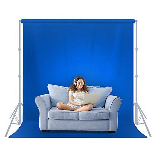 Julius Studio 6 ft X 9 ft Blue Chromakey Fabric Backdrop Background Screen, Photo Video Studio, JSAG104