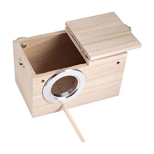 Mumusuki Houten vogelhuis, 4,7 x 4,7 x 7,7 inch huisdier, warminkubus, vogelkooi, nestkast, voor binnen en buiten, kweken van vogels