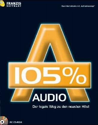 Audio 105 {387811438f0507e3c3f2eeadca1187ab794c6d2818b6cb7b5b5d51df3fa8c7c7}, 1 CD-ROM Der legale Weg zu den neuesten Hits! Das Internetradio mit \'Aufnahmeknopf\'. Für Windows 98 SE/ME/XP SP1 und SP2