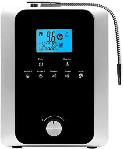 Aktivkohle-Elektrolyse Wasserionen-Wasseraufbereiter Haushalts-LCD-Multifunktions-intelligenter Sprachwasseraufbereiter-schwarz