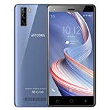 Teléfono Móvil Libre 4G ,Android 9.0 Smartphone,Quad Core ,5.0 Pulgadas Pantalla HD Smartphone Libres, Dual SIM,Cámara 8MP,Batería 3400mAh, Face ID,Soporte Bluetooth 4.2/WiFi/GPS.(Azul)