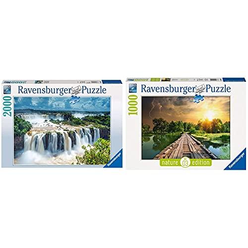 Ravensburger 166077 Cascata Dell'Iguaza Brasile, Puzzle 2000 Pezzi, Linea Foto & Paesaggi, Puzzle & Nature Edition, 3, Puzzle 1000 Pezzi, Paesaggi E Natura, Puzzle, Fotografia, Luce Mistica