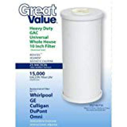 Great Value Heavy-Duty GAC Universal Whole House 10' Filter