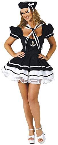Sexy Zeeman kostuum for de vrouw, Navy Sailor Girl Uniform Retro met korte mouwen kostuum set for dames