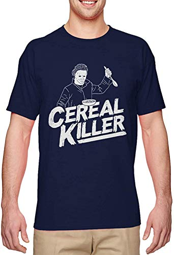 BLINGG Cereal Killer Funny Halloween Parody Men's T-Shirt,Navy,Medium