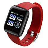 Fengstore Smartwatch, Herzfrequenz- & Blutdruckmessgerät, Smart-Armband, 116 Plus Farbbildschirm, Smartwatch mit Herzfrequenz- & Blutdruck, wasserdicht, Fitness-Tracking-Uhr