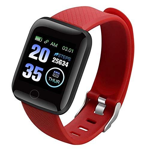 Yusea Smart Watch con Schermo a Colori 116 Plus, Smartwatch Donna, Orologio Fitness, Impermeabile, Fitness Tracking, per Uomini e Donne, Compatibile con iOS e Android