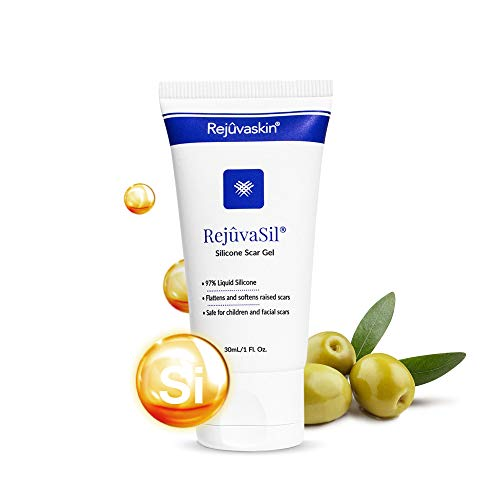 Rejuvaskin RejuvaSil Silicone Scar Gel – Improves the Appearance of Scars – Physician Recommended - 30 mL