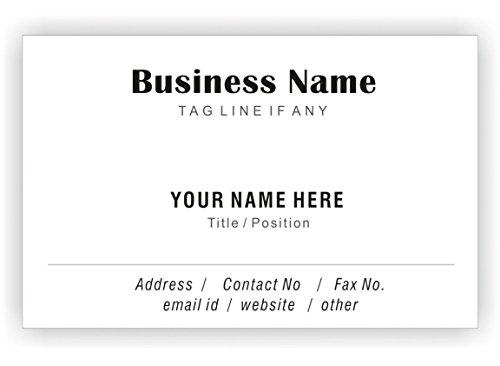 Classic White personnalisés Cartes de visite personnalisée Société professionnelle des employés de visite Card- avant-110 LBS -Papier épais