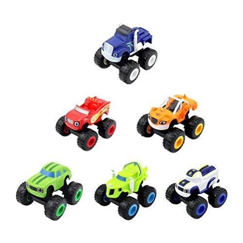 Rlevolexy Monster Truck Coches de juguete para niños, 6 unidades Blaze y The Monster Machines, Super Stunts Blaze Kids Truck Car Coll regalo para 3 4 5 6 7 8 años niños niñas en cumpleaños Navidad