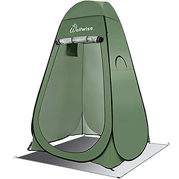 WolfWise Tente de Douche Pop Up Toilette Changement Camping Abri de Plein Air Vestiaire Extérieure Intérieure Portable