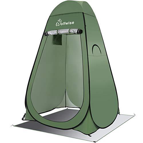 WolfWise Pop up toalett tält dusch integritet tält för camping utomhus byte kläder fiske bad förråd tält bärbar med bärväska