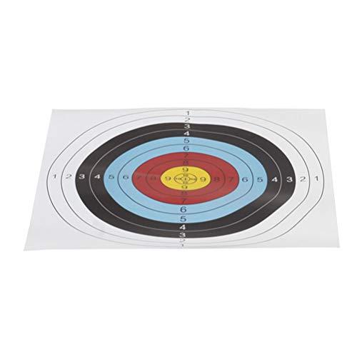 VOSAREA 20pcs Bogensport Scheibenauflage 40x40cm Papier Bogenschießen Pfeil Zielscheibe Training Im Freien Schießzubehör