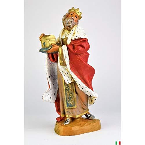 Fontanini Re Magio blanco con oro 19 cm