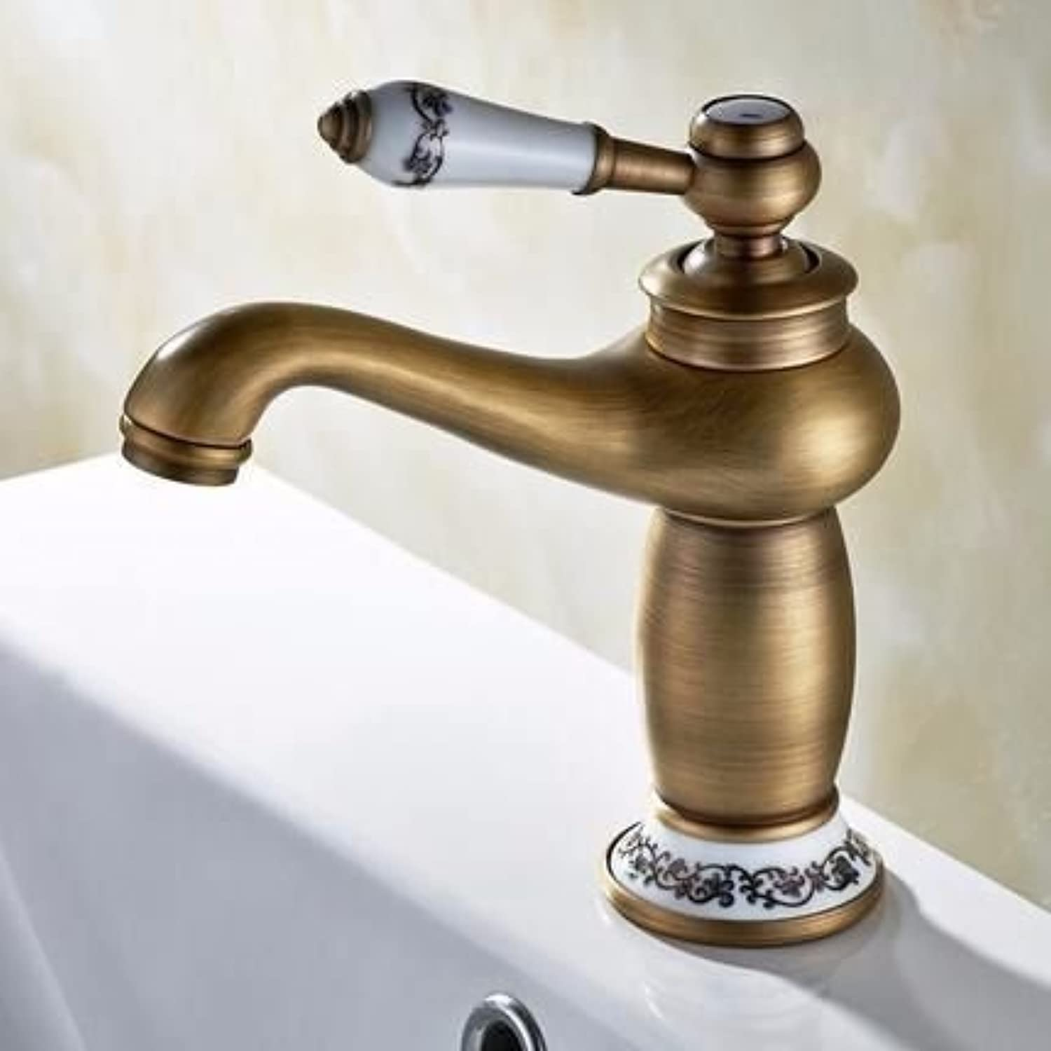 ETERNAL QUALITY Bathroom Sink Basin Tap Brass Mixer Tap Washroom Mixer Faucet Basin faucet single hole, single-copper hot and cold-water Mixer blender coordinates Kitchen