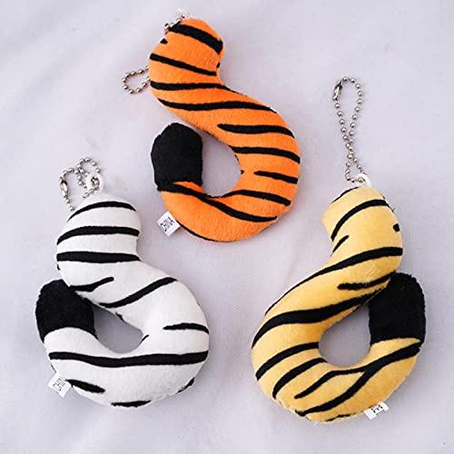 Pluche pop hanger, pluche sleutelhanger, tijger staart sleutelhanger, paar schooltas hanger, rugzak accessoires lelijke creativiteit