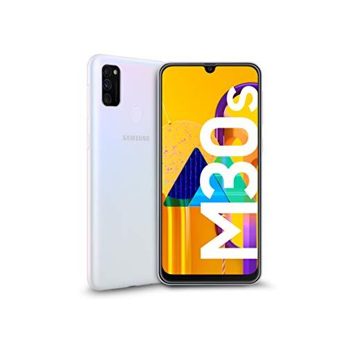 Samsung Galaxy M30s Smartphone, Display 6.4' Super AMOLED, 64 GB Espandibili, RAM 4 GB, Batteria 6000 mAh, 4G, Dual SIM, Android 9 Pie [Versione Italiana], White