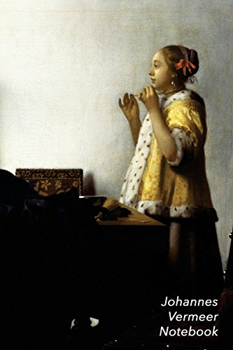 Johannes Vermeer Notebook: Woman with a Pearl Necklace Journal | 100-Page Beautiful Lined Art...