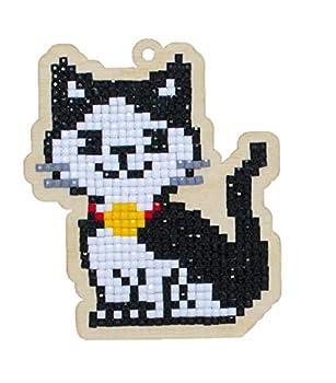 Diamond Painting Charm kit for Creativity & Leisure Diamond Mosaic Ornament KIT Cat Oscar WWp194 Square Acrylic Rhinestones for Diamond Art Sorted Magnet Included