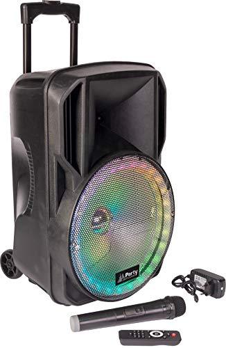 PARTY-12RGB - Party Light & Sound - BAFLE PORTATIL 12''/30CM CON USB, TF, BLUETOOTH, FM, MICRO VHF Y MANDO A DISTANCIA