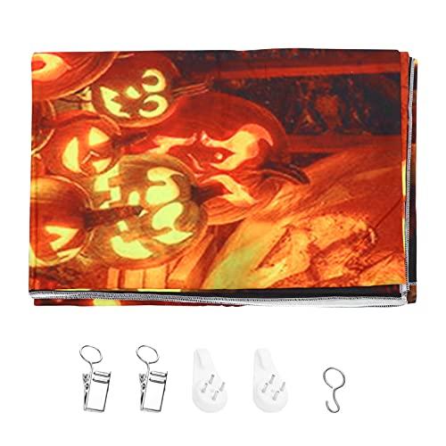 OSALADI Fondo de Halloween Horror Calabaza Fotografía Fondo de Estudio de Miedo Prop Tapiz Colgante de Pared para Decoración de Fiesta Mantel Tapiz Cortina Estilo 2