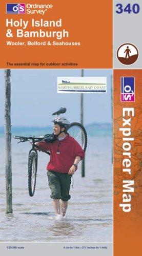 OS Explorer map 340 : Holy Island & Bamburgh