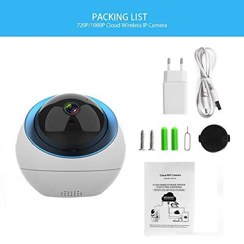 1080P WiFi Haustier / Babykamera Space Ball Pan/Tilt/Zoom Wireless Security Camera, Home Security Camera with Cloud Storage 2-Way Audio / Nachtsicht / Bewegungserkennung