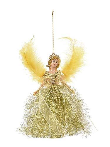 Blentude Mini Engel Weihnachtsbaum - Anhänger mit Federflügeln für Weihnachtsschmuck Baum Ornament