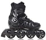 RAVEN Inline Skates Inliner Expert Black verstellbar...