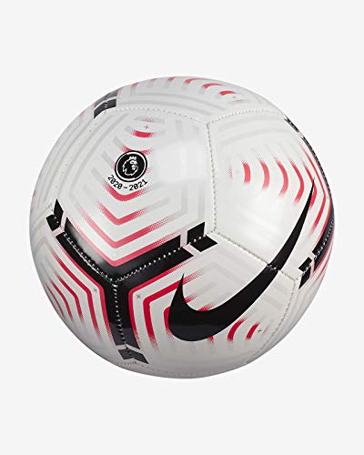 NIKE Premier League Skills Balón, Juventud Unisex, White/Laser Crimson/Black, 1