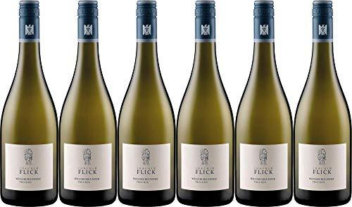6x Weißer Burgunder trocken 2019 - Weingut Joachim Flick, Rheingau - Weißwein
