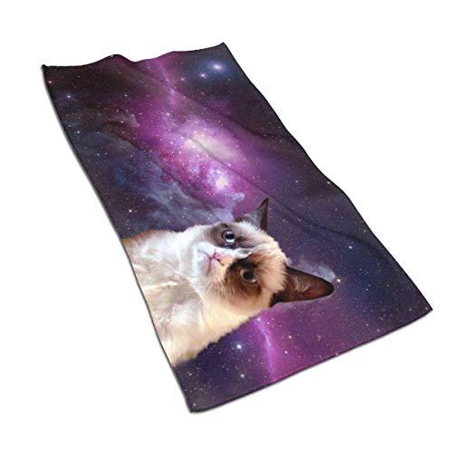 637 Bath Towels Real Space Cat Unisex Ultra Suave Personalizado Toalla De Baño Único Toalla De Piscina Adulto Hotel Duradero Toallas De Baño Toalla De Playa 80X130Cm Secad