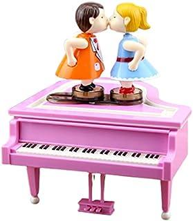 GJHK Boîte À Musique Couple Baiser Romantique Cadeau De Saint Valentin pour Petite Amie Décoration De Boîte À Musique Poup...