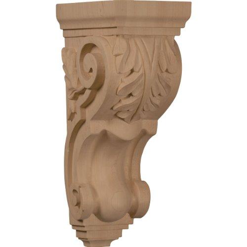Ekena Millwork CORW05X07X14TAGM 5-Inch W x 7-Inch D x 14-Inch H Large Traditional Acanthus Corbel, Mahogany