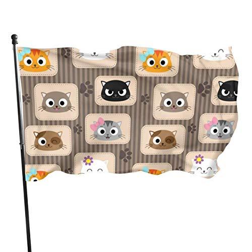 GOSMAO Bandera de Jardín Doble Costura Resistentes a la Decoloración UV Banner de Bandera Decorativo Exterior Fiesta Mardi Gras para Patio Césped Naranja Pardo 150X90cm