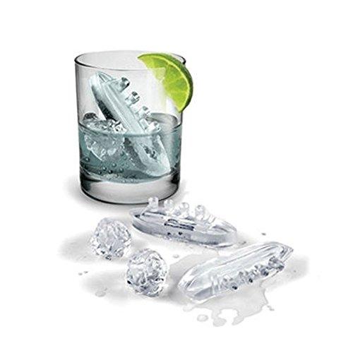 Stampo forma ghiaccio e cioccolatini in pvc a forma di titanic con iceberg.