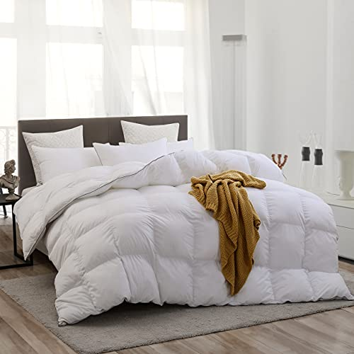 Goose Down Comforter King 100% Egyptian Cotton Comforter...