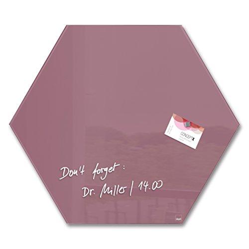 SIGEL GL282 Pizarra magnética de cristal, 40 x 46 cm, rosa viejo...