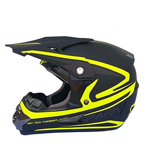 ZYW Regalos de la Cara Llena de Bicicletas de montaña Casco Adulto Gafas Máscara Guantes Race MTB ATV motocrós de la Bici Casco de la Motocicleta D.O.T, S, M, L, XL,Verde,XL
