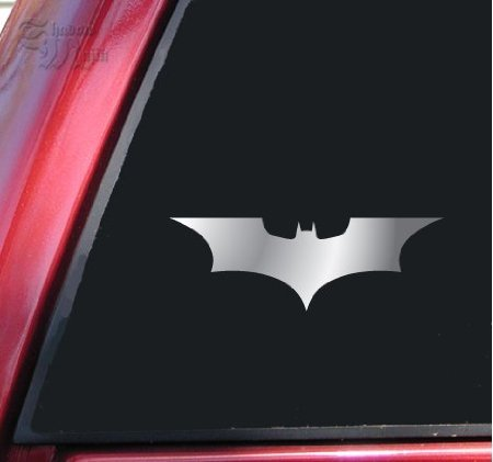 Aufkleber Batman Begins / The Dark Knight Vinyl Decal Sticker - Shiny Chrome