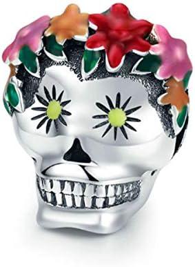 Eternalll Jewellery for Women 925 Sterling Silver Beads Halloween Pumpkin Skull Enamel Charm product image