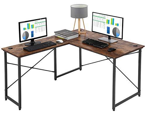 Computer Desk Gaming Desk L Shaped Desk Office Writing Desk Modern Student Girl Kids Study PC Simple Extra Large Ergonomic Table Workstation,Vintage