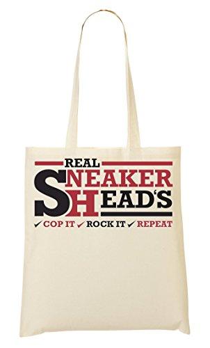 ShutUp Real Sneakerheads Tragetasche Einkaufstasche