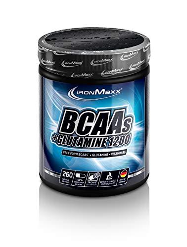 IronMaxx BCAA\'s + Glutamin 1200 Pre Workout Booster, 260 Kapseln (1er Pack)