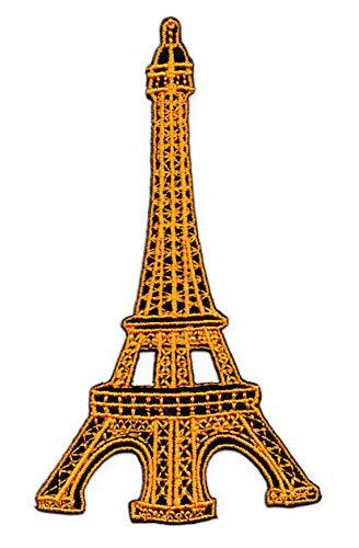 Eiffelturm Paris Frankreich Aufnäher zum Aufbügeln oder Aufnähen Schwarz