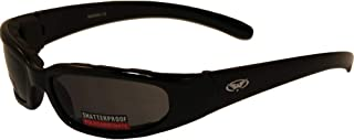 Global Vision Chicago Padded Riding Glasses (Black Frame/Smoke Lens)