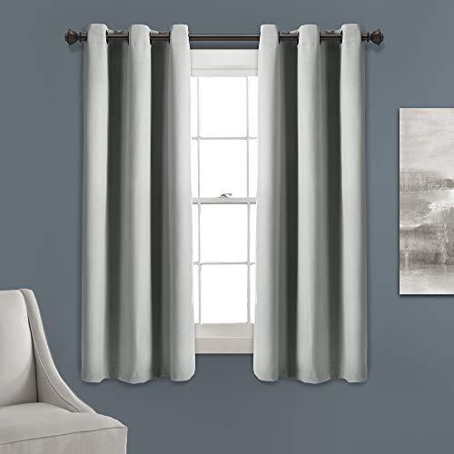 Lush Decor Absolute Verdunkelungsvorhang, lichtgrau, isoliert, mit Ösen, 160 x 96 cm