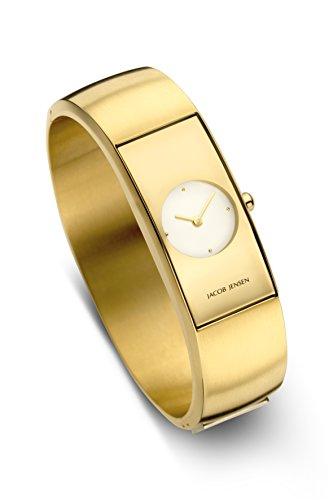 Jacob Jensen dames analoog kwarts horloge met roestvrij stalen armband 482